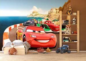 Disney Boys bedroom Wallpaper Cars photo wall mural in Giant size McQueen racing