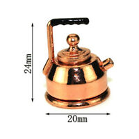 1:12 Miniature kettle dollhouse diy doll house decor accessor TP