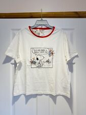 More details for new cath kidston peanuts snoopy t-shirt uk large bnwt