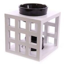 Duftlampe quadratische Holz - weiß