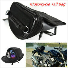 1pc Motorcycle Bike Black Tail Bag Back Seat Storage Carry Bag Hand Shoulder Bag