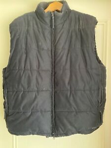 FRENCH CONNECTION QUILTED BLACK GILET (LARGE)