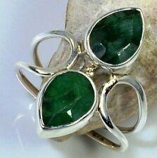 Handmade Emerald Sterling Silver Fine Jewellery