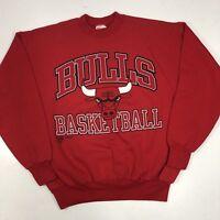 Vtg 90's NBA Chicago Bulls Basketball Team Streetwear Sweatshirt Mens Shirt L