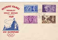Great Britan Stamp FDC 1948 Olympics set sc# 271-4 Nice Cachet