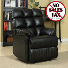 Recliner Chair Wall Hugger Leather Lazy Boy Living Room Modern Reclining Black
