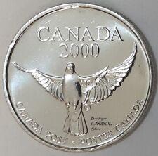 2000 Canada Post Millennium Dove Quarter-Sized Token