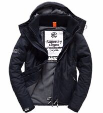 BNWT Mens Superdry Quilted Hooded Polar Windcheater French Navy, Medium, M