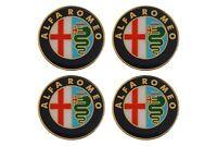 4x 60mm ALFA ROMEO Felgenaufkleber Aufkleber Sticker Emblem Radkappen Silikon
