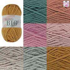 King Cole Big Value Mega Chunky Yarn Semi Matte Finish Knitting Crocheting-100g