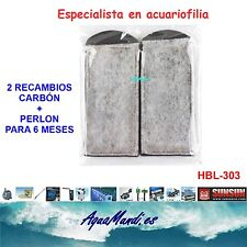 recambio carbon perlon filtro mochila externo exterior acuario HBL-303 pecera