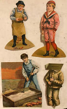 1890's Antique Lion Coffee Cut-Out Victorian Paper Dolls the mason doll advert