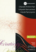 MANUSCRIPT A4 CALLIGRAPHY PARCHMENT PAPER PAD 90GSM ASSORTED COLOURS 36 SHEETS