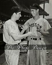 Yankees Joe DiMaggio Red Sox Ted Williams 8x10 Photo Print Wall Art Decor (C11)