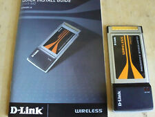 Vintage D-Link DWA-642 CARDBUS WIRELESS WiFi RANGEBOOSTER-N NOTEBOOK LAPTOP CARD