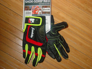 Youth Franklin Batting Gloves Neo Shok Sorb Black Red Boys Girls Kids L M
