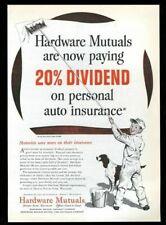 1955 English Setter and boy painter art Hardware Mutuals insurance print ad