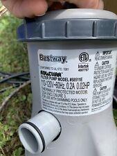 USED Intex Bestway 58385e Flowclear 530 GPH Filter Pump