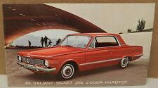 1964 PLYMOUTH SIGNET VALIANT 200 POSTCARD MOPAR DEALERSHIP PROMO HARDTOP DEALER