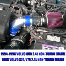 Blue+Red 1994-1996 1998 VOLVO 850 S70 V70 2.4 2.4L NON-TURBO AIR INTAKE KIT