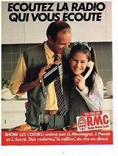 PUBLICITE ADVERTISING 054  1982  RMC  radio   du rire en direct