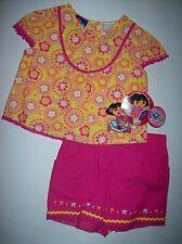 Dora the Explorer Girls Outfit 2pc Short Set Size 12 Mos  NWT
