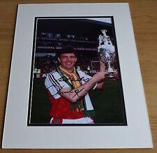 David O'Leary SIGNED autograph 16x12 LARGE photo display Arsenal Football & COA