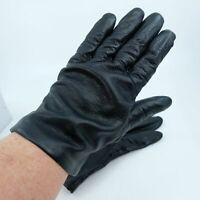 Fownes Black Leather Gloves Silk Lining Vintage?