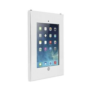 White Steel Anti-Theft Security Enclosure iPad 2 3 4 Air Wall Bracket Mounting