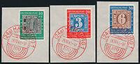 BUND 1949, MiNr. 113-15 auf wunderschönen Luxusbriefstücken, Mi. 140,-