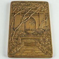 Art Nouveau Solid Bronze Medallion — Award, Botanical Garden, The American Home