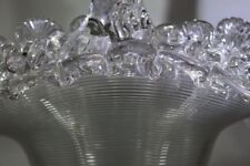 Vase Clear Victorian Date-Lined Glass
