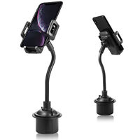 Universal Car Mount Cup Holder Cradle Adjustable Gooseneck for Cell Phone iPhone