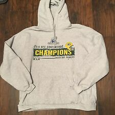 Green Bay Packers hoodie sweatshirt 2010 NFC Champions Reebok XL