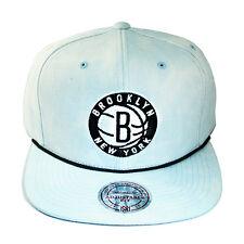 Mitchell & Ness NBA Brooklyn Nets Snapback Hat Tie Dye Denim Visor & Cap