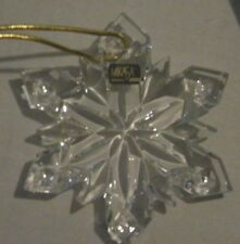 Mikasa Joyous Collection Snowflake Ornament NEW WITHOUT BOX