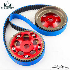Racing Timing Belt + Cam Gear Pulley Kit For Toyota 1JZ 1JZGTE 1JZ-GTE 88-92 Red
