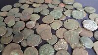 Lot of 10 Low Grade Ancient Roman Coins / 330 A.D. / Constantine the Great Era
