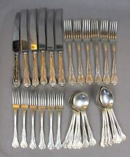 Fabulous vintage silver plated P. Marks of Sheffield CUTLERY CANTEEN SET  for 6.