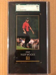 TIGER WOODS 1997 GRAND SLAM VENTURES RC SGC 86 / 7.5 PGA GOLF