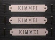 "SADDLE BRIDLE BROW PLATE XSM Solid Nickel Silver Custom Engraved 2"" x 3/8"" Plate"