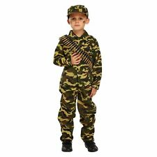 Army Boy Soldier Childs Boys Fancy Dress Costume Outfit Age 10-12 CLEARANCE