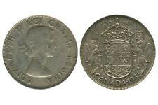 50 Cents Elisabeth II Canada Argent 1953