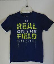 Youth Boys Under Armour Heat Gear Loose Fit Football Short Sleeve T-Shirt, YSM