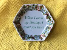 Spode Holidays Blessing Small Porcelein Decorative Dish 2007