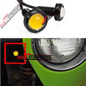 For Jeep Wrangler Tube Fenders YJ CJ JK TJ Rubicon Amber LED Turn Signal Lights