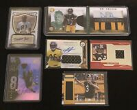 Lot Of 50 Pittsburgh Steelers Cards Plus 1 Autograph Or Game Used Jersey Card