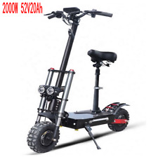 52V2000W Electric Scooter 11inch Motor Wheel Off Road Fat tire Dual Powerful A