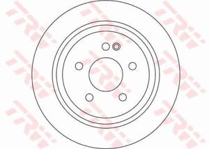 TRW Brake Rotor Pair Rear DF4356S fits Mercedes-Benz Vito 109 CDI (W639), 109...