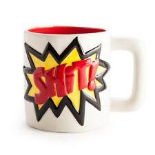 Shit Mug – Kapow Superhero – novelty ceramic hot tea coffee cup gift funny